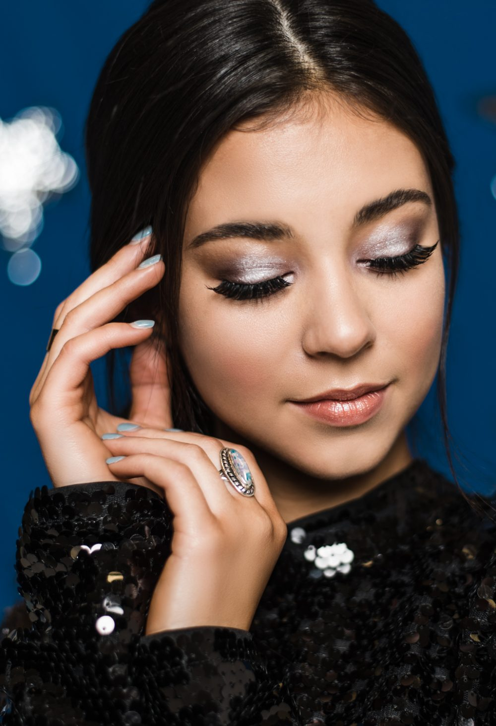 Beauty Portrait Professional Makeup HMUA Astronomy Themed Fashion Utah Fashion Portrait Beauty Photographer